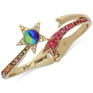 Betsey Johnson Shooting Star Bracelet in Gold Tone